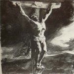 Brulloff Karl (1799 - 1852)	  Crucifixion  Paper, pencil Italian, 1835  The Tretyakov Gallery, Moscow, Russia